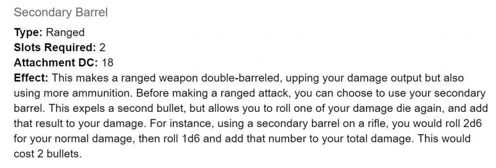secondary barrel